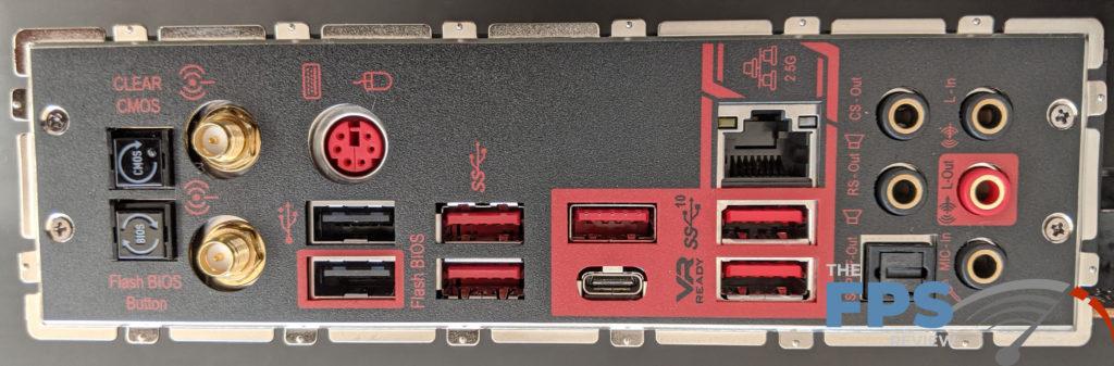 MSI MEG X570 Unify Motherboard I/O panel