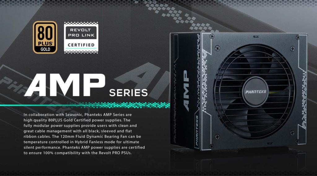 Phantek AMP 750 power supply series product brief