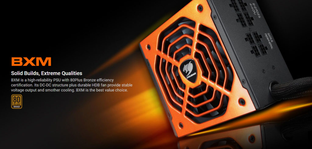 Cougar BXM 700 700W Power Supply Marketing Picture