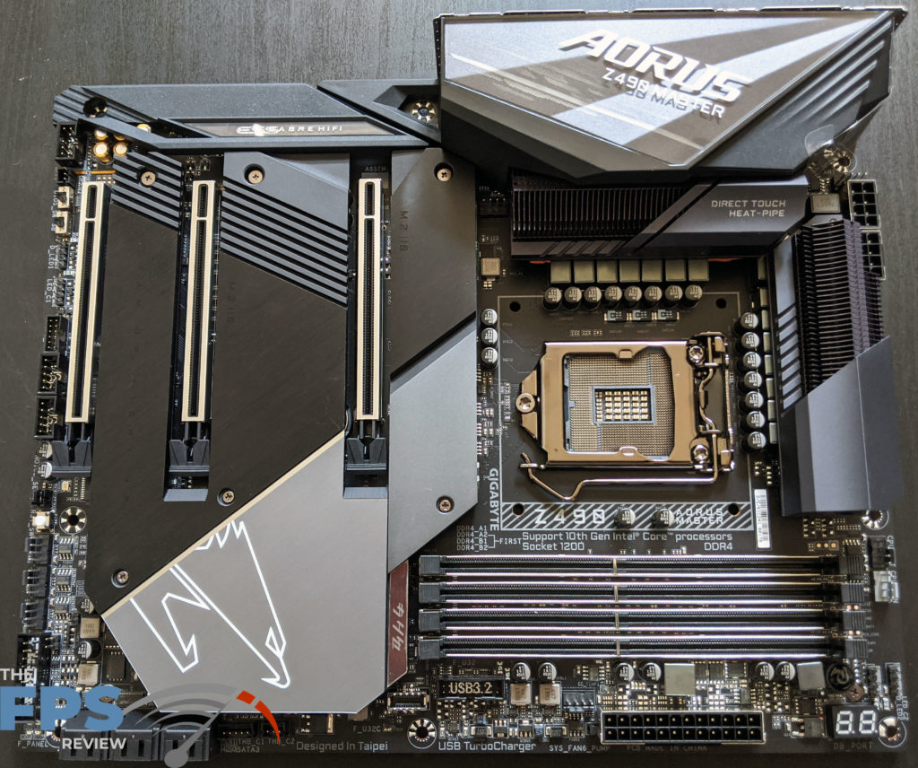 GIGABYTE Z490 Aorus Master Motherboard opened on table