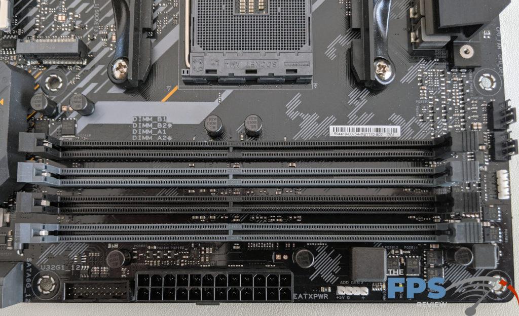 ASUS TUF GAMING X570 PLUS (WI-FI) Motherboard Review DRAM slots
