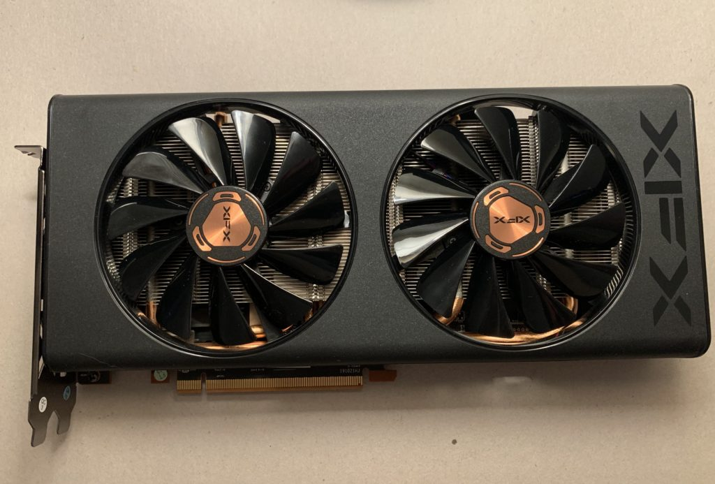 XFX 5500 XXT THICC II Front Card View