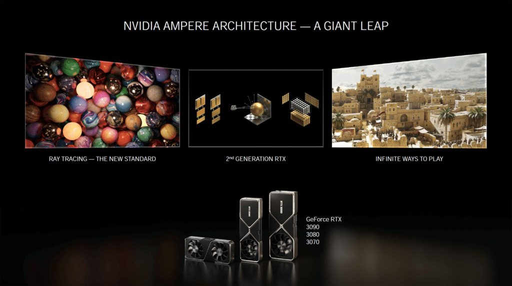 NVIDIA Ampere Architecture A Giant Leap Marketing Slide