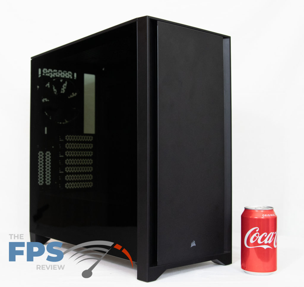 Corsair 4000D Tempered Glass Side Angle