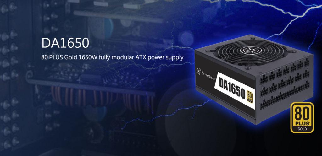 SilverStone DA1650 1650W Power Supply Logo and Power Supply