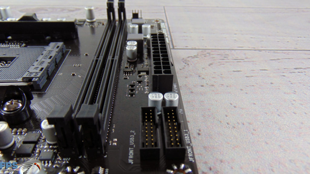 BIOSTAR B550MH Motherboard DIMM Slots and ATX Power Connector
