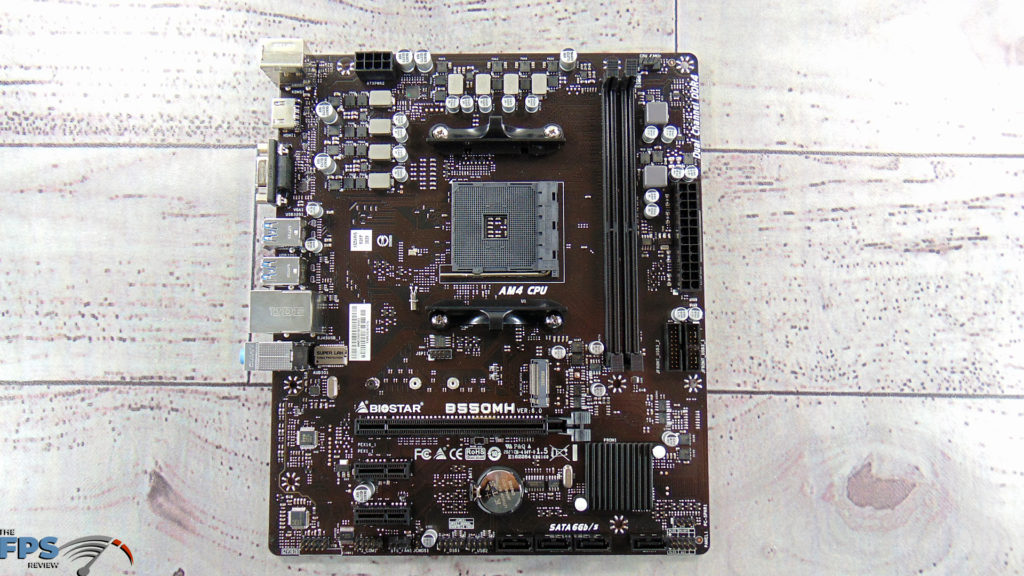 BIOSTAR B550MH Motherboard Top Down Motherboard
