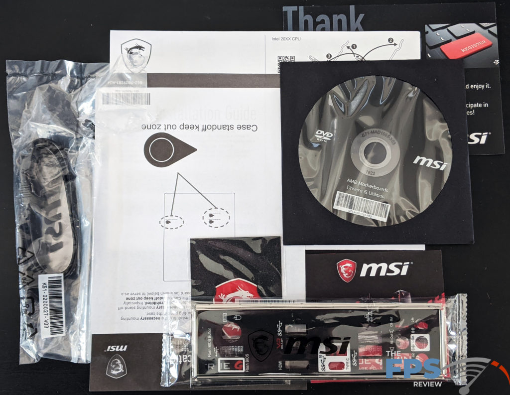 MSI X570-A PRO Motherboard Box Contents