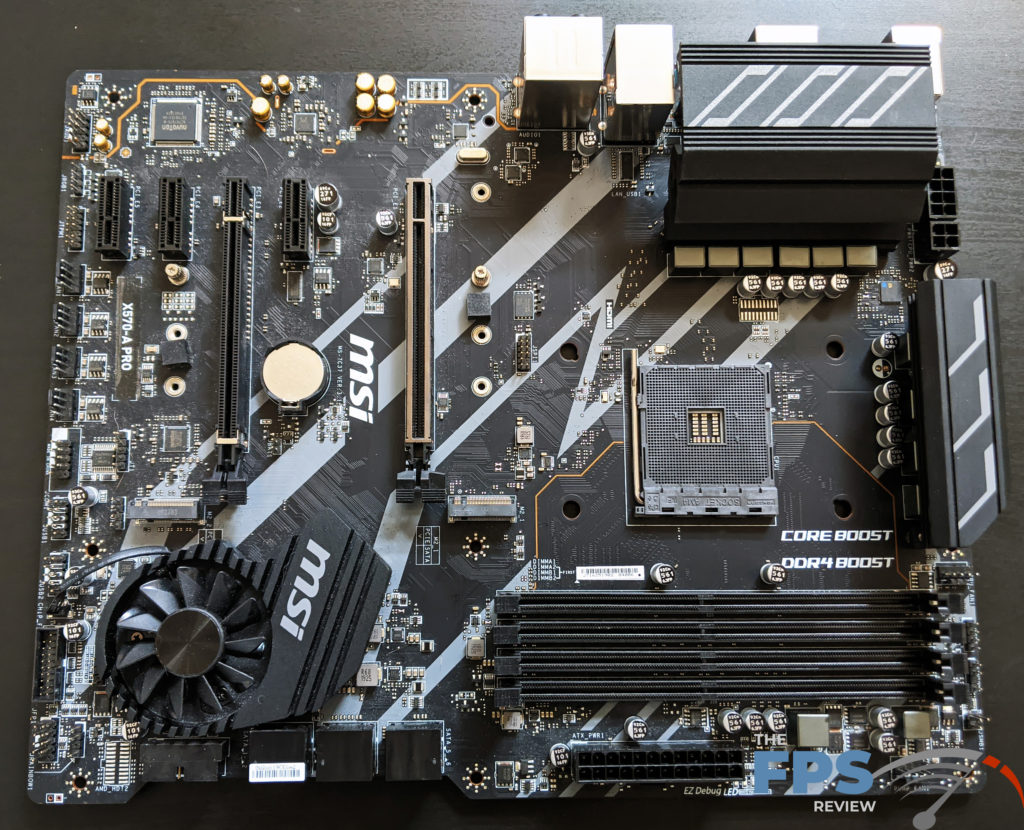 MSI X570-A PRO Motherboard Flat on Table