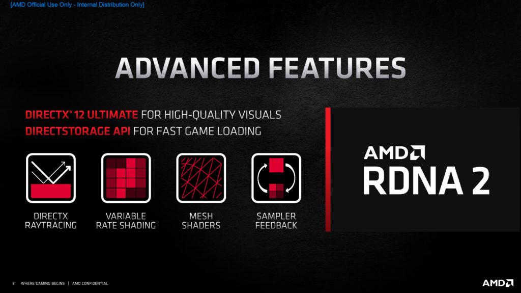 AMD Radeon RX 6800 XT and Radeon RX 6000 Series RDNA2 Ray Tracing Slide