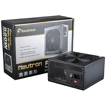 Solid Gear Neutron 550W Power Supply Box and Power Supply