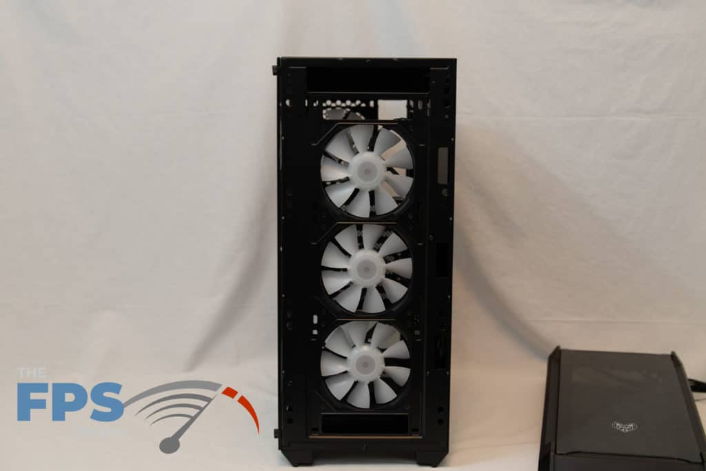 fsp cmt520 plus front panel removed view 3 case fans