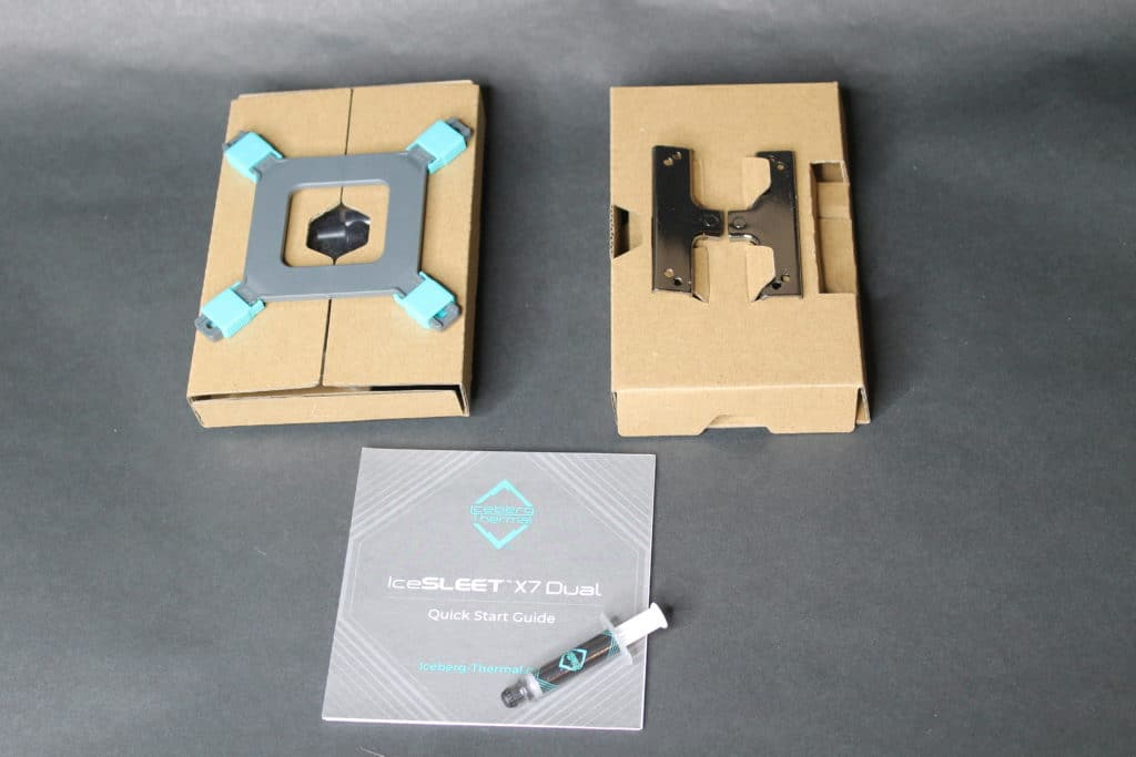 Iceberg Thermal IceSLEET X7 Dual  install kit components