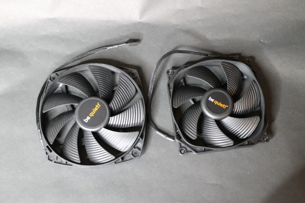 Silent Wings 120mm and 135mm fans front view