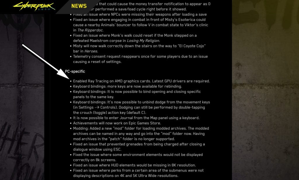 Cyberpunk 2077 Patch 1.2 Release Notes