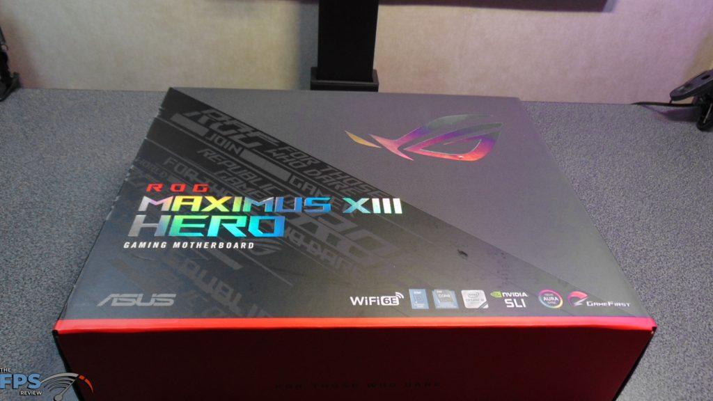 ASUS ROG MAXIMUS XIII HERO Z590 motherboard box