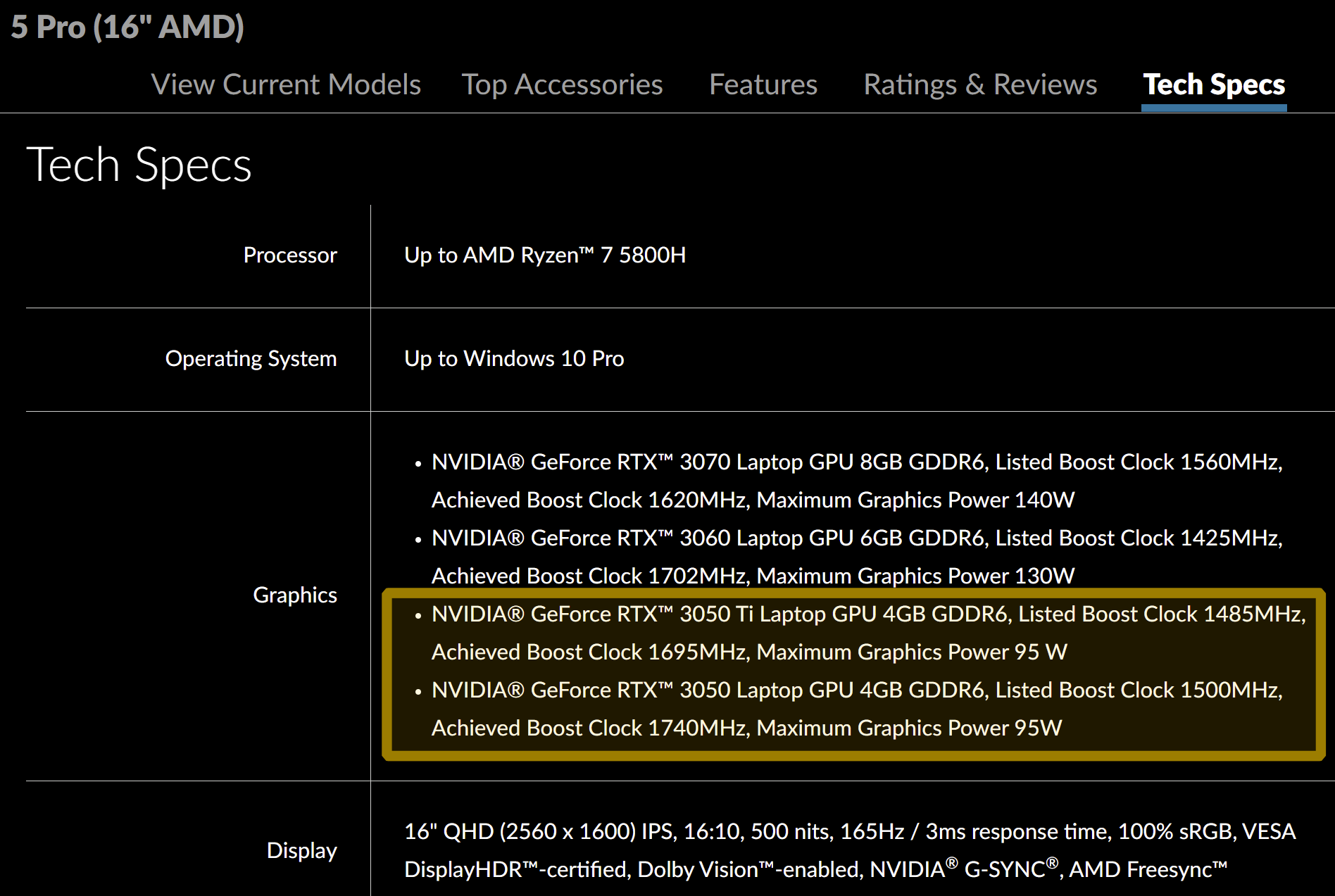 NVIDIA GeForce RTX 3050 Ti and GeForce RTX 3050 Laptop GPU Specifications Confirmed by Lenovo